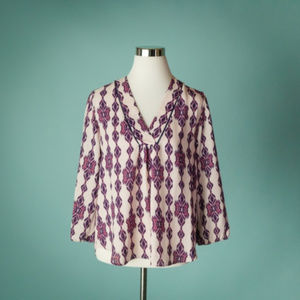 Collective Concepts M Purple 3/4 Sleeve Top